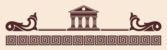 Vector Greek ornament. Royalty Free Stock Photography