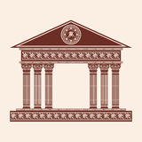 Vector Greek temple. Royalty Free Stock Photos