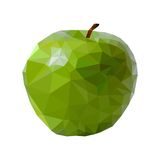 Vector green apple isolated Royalty Free Stock Photos