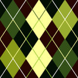 Vector green argyle pattern Royalty Free Stock Photos