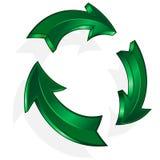 Vector green arrow. Vector illustration green arrow for design Stock Photo