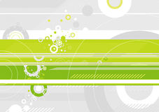 Vector green background. Grunge background with many different white and grey circles,vector illustration Stock Photos