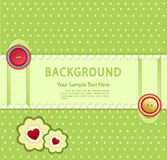Vector green background with buttons Royalty Free Stock Photo