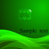 Vector green background with sample text. Stock Photos