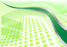 Vector green background with star. Clip-art Royalty Free Stock Photos
