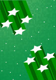 Vector green background with star Stock Image