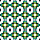 Vector Green Black Butterfly Tribal Seamless Royalty Free Stock Photos