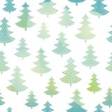 Vector green and blue christmas trees forest holiday seamless pattern. Great for winter holiday fabric, wallpaper Royalty Free Stock Images