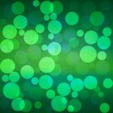 Vector green bokeh background Royalty Free Stock Photos