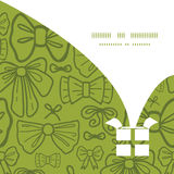 Vector green bows Christmas gift box silhouette Royalty Free Stock Image