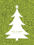Vector green bows Christmas tree silhouette Stock Photos
