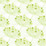 Vector green bubble plants geometric seamless Stock Photography