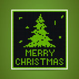 Vector green christmas tetris card Royalty Free Stock Photos