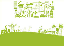 Vector - green city. Vector elements about city and nature Stock Images