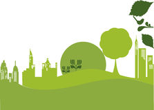 Vector - green city. Vector element about a green city Royalty Free Stock Photo