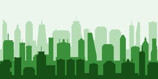 Vector green city stock image