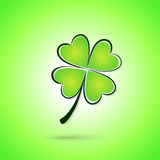Vector green clover background Stock Photos