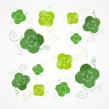 Vector Green Clover Leaves Stock Photography