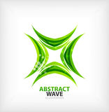 Vector green concept abstract business icon Stock Photography