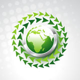 Vector green earth Stock Images