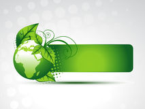 Vector green earth. With space for your text Stock Images