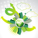 Vector green earth Stock Photos