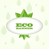 Vector green eco banner Stock Images