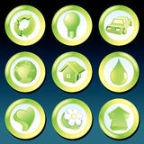 Vector Green Eco Icons Royalty Free Stock Photos