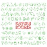 Vector green eco icons set Stock Images