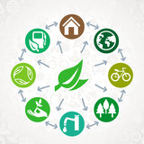 Vector Green Ecology Concept Royalty Free Stock Images