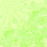Vector green floral composition Stock Image