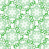 Vector Green Floral Spring Mandala Seamless Pattern Royalty Free Stock Photography