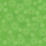vector green geometric texture with flowers Stock Photography