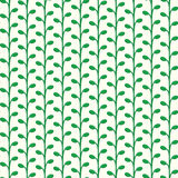 Vector green growing plants pattern Stock Photography