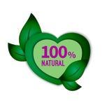 Vector green heart Stock Images
