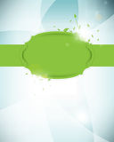 Vector green label futuristic background Royalty Free Stock Photography