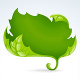 Vector green leaf frame 2. Spring background Stock Images