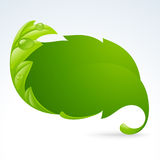 Vector green leaf frame, spring background 3