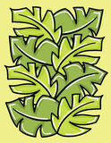 Vector green leaves. Royalty Free Stock Photos