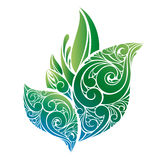 Vector green leaves Royalty Free Stock Images