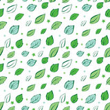 Vector Green Leaves Diagonal Seamless Pattern Royalty Free Stock Photography