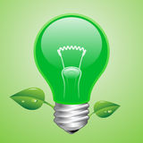 Vector green lightbulb Stock Photo