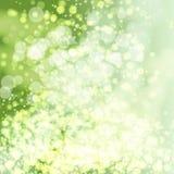Vector green lights background. stock illustration