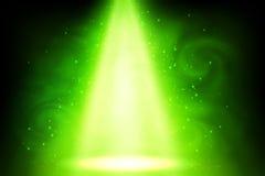 Vector green magic smoky spot light abstract background Stock Photo