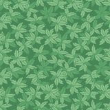 Vector green monotone hand drawn leaves repeat pattern. Suitable for gift wrap, textile and wallpaper vector illustration