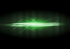 Vector green neon lines Royalty Free Stock Images