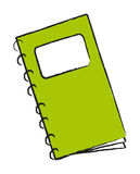 Vector green notepad Stock Photo