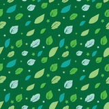 Vector Green Painted Leaves Stars Diagonal Stock Images