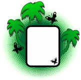 Vector green palm frame Royalty Free Stock Images