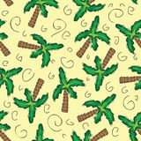 Vector green palm trees seamless pattern Stock Photos